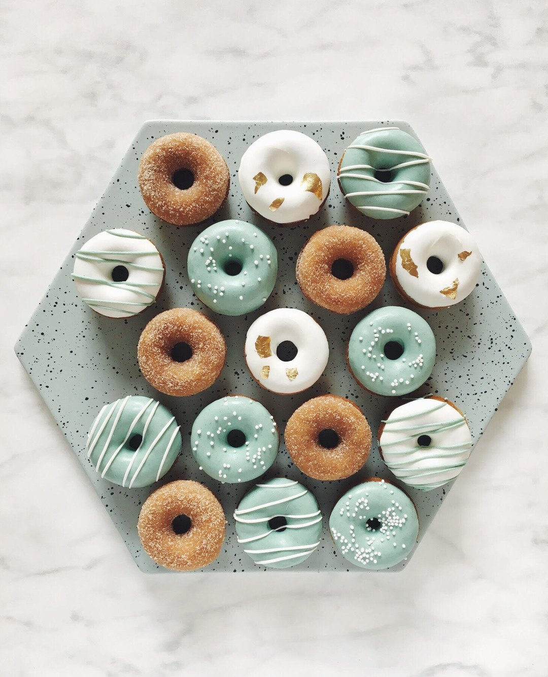 Mini donuts eucalyptus mix